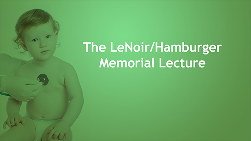 Lenoir/Hamburger Memorial Lecture