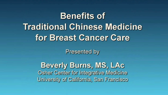 Benefits of traditional chinese medicine for breast cancer