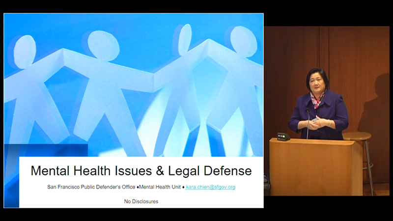 a discussion on the legal defense of the mentally ill Criminal defense lawyer ryan albaugh discusses his experience representing mentally ill clients in the st johns county criminal justice system.