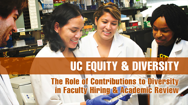 The Role of Contributions to Diversity in Faculty Hiring and Academic Review